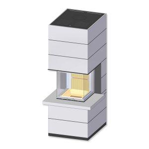 Kaminbausatz  SIM , Kamin selber bauen,  Kamin Spartherm, Speicherofen SIM ARTE mit Feuertisch