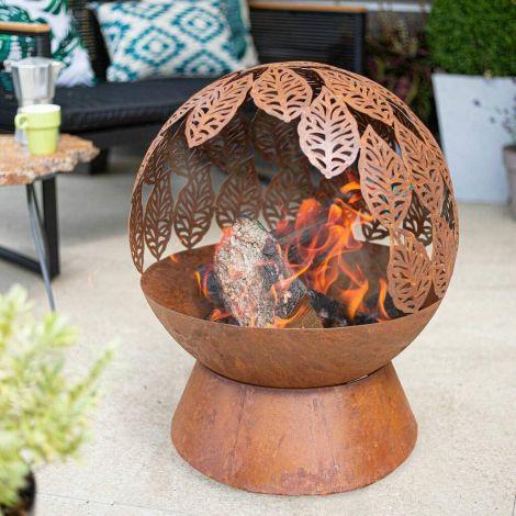 La Hacienda Feuerstelle Feuerball Blätter