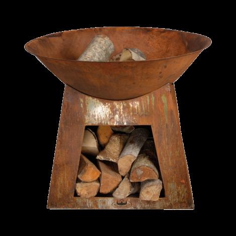 Feuerschale Rost S mit Holzlager Esschert Design