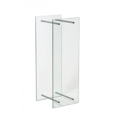Kaminholzregal Holzablage für innen aus Glas Edelstahl