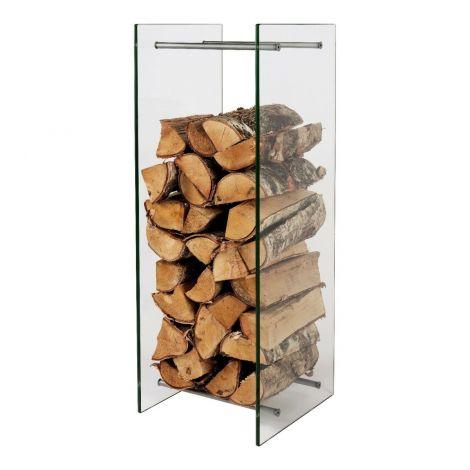 Glas Kaminholzständer 90 x 30 x 33 cm Brennholzständer Kaminholz Regal Rack