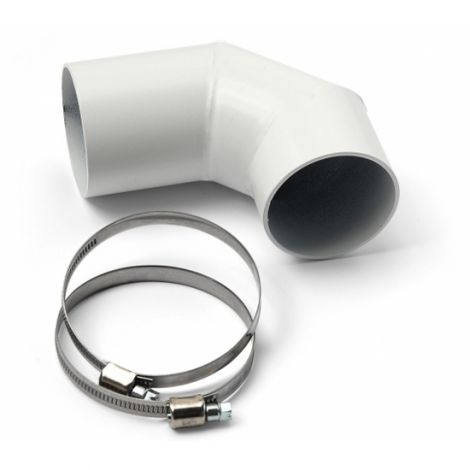 Pelletofenrohr Bogen MCZ DN 60 mm 90° Weiß