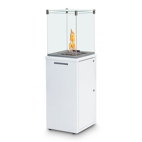 Gas- Outdoorkamin Spartherm Ebios Fire Fuora Q - 7 KW weiss