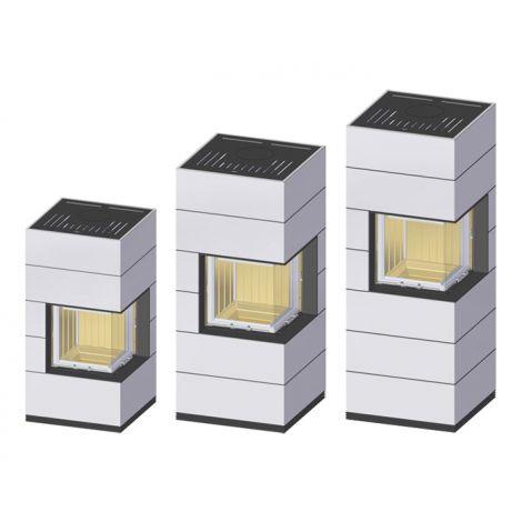 Kaminbausatz Spartherm  SIM MINI ist in 3 unterschiedlichen Höhen erhältlich