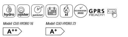 Pelletofen wasserführend MCZ Clio Hydro